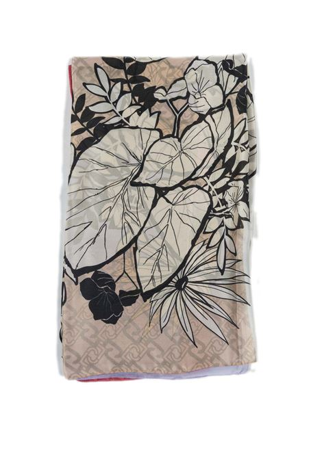 Foulard tropical rosa LIU JO | Foulards | A1098T0300TROPICAL-61620