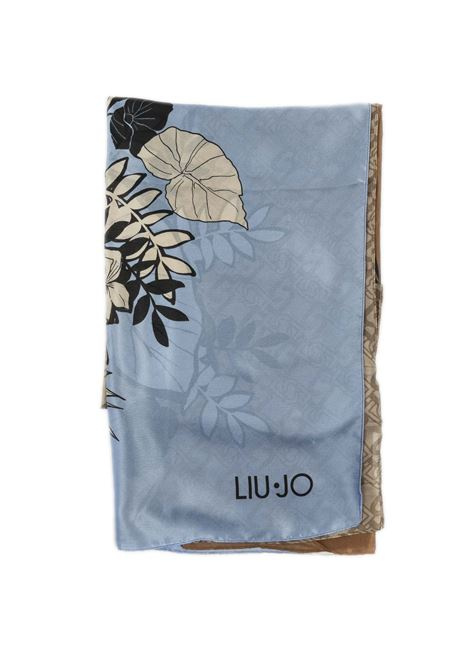 Foulard tropical cuoio LIU JO | Foulards | A1098T0300TROPICAL-X0282