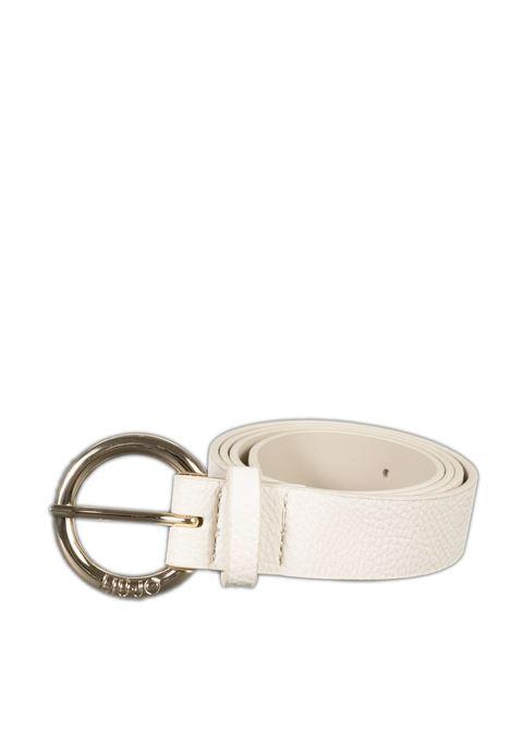Cintura logo bianco LIU JO | Cinture | NA0233E0031PELLE-20000