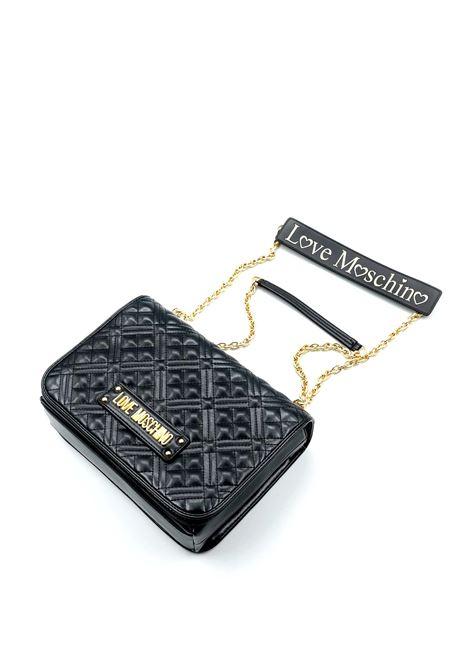 Borsa a tracolla trapuntata nero LOVE MOSCHINO | Borse a spalla | 4000PELLE-000