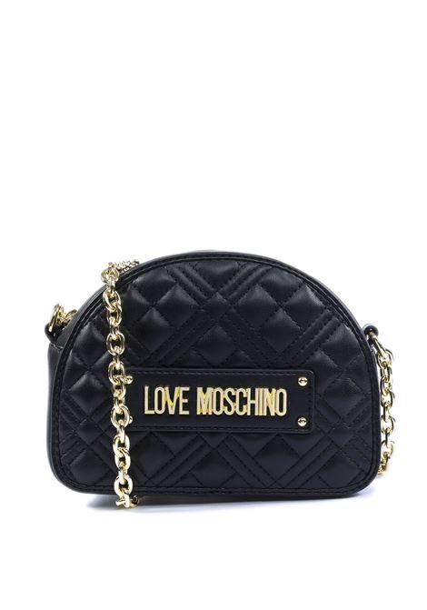 Borsa semiluna trapuntata nero LOVE MOSCHINO | Borse mini | 4004PELLE-000