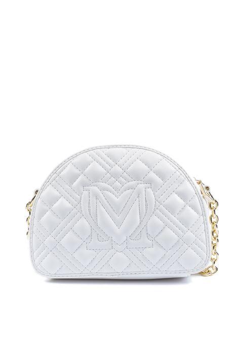 Borsa semiluna trapuntata bianco LOVE MOSCHINO | Borse mini | 4004PELLE-100