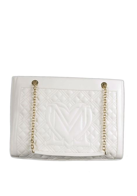 Shopping quilted bianco LOVE MOSCHINO | Borse a spalla | 4006PELLE-100