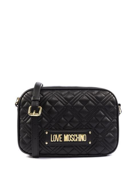Borsa a tracolla trapuntata con logo nero LOVE MOSCHINO | Borse mini | 4010PELLE-000