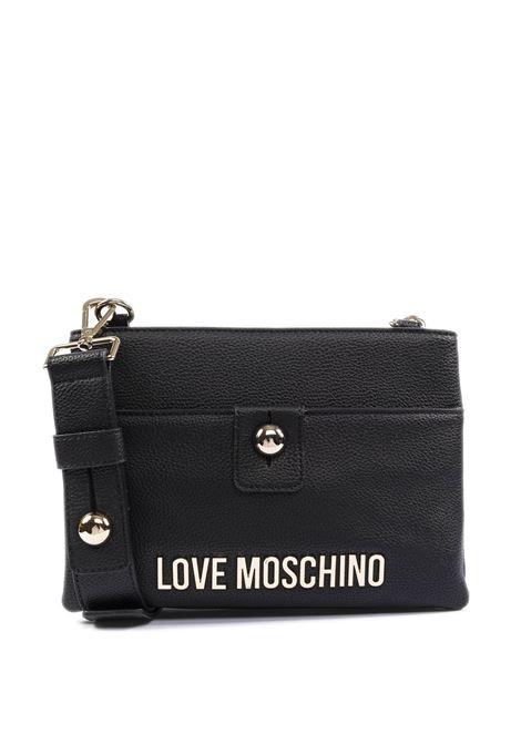 Tracolla mini con doppia tasca nero LOVE MOSCHINO | Borse mini | 4023PELLE-000