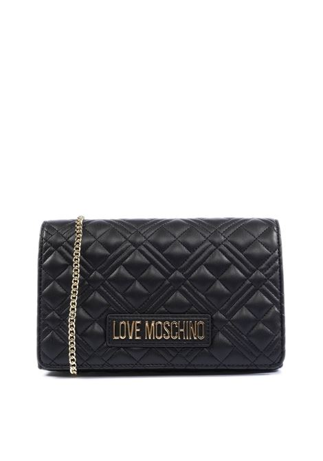 Pochette quilted nero LOVE MOSCHINO | Borse mini | 4079PELLE-000