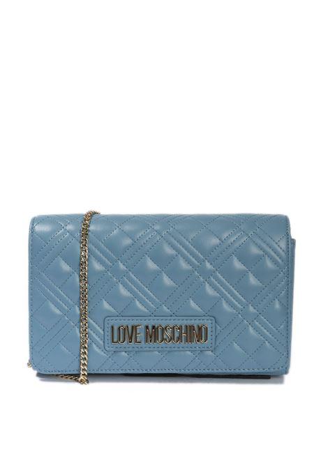 Pochette quilted azzurro LOVE MOSCHINO | Borse mini | 4079PELLE-700