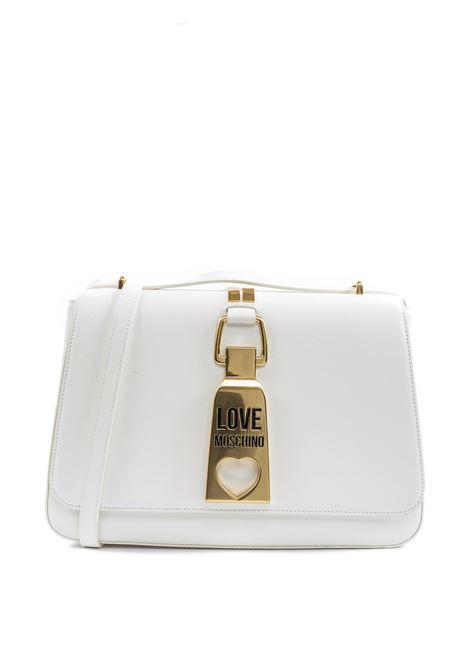 Tracolla m zip bianco LOVE MOSCHINO | Borse a spalla | 4091PELLE-100