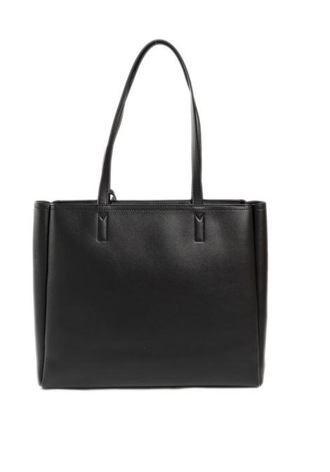 Shopping con charm nero LOVE MOSCHINO | Borse a spalla | 4100PELLE-00A