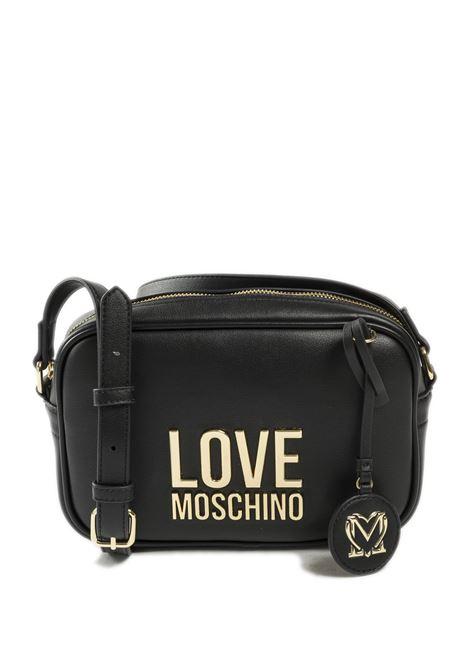 Borsa a tracolla mini con logo nero LOVE MOSCHINO | Borse mini | 4107PELLE-00A