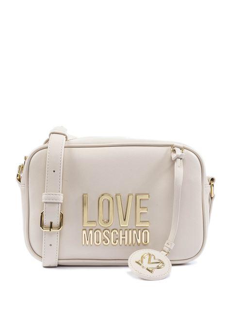 Borsa a tracolla mini con logo avorio LOVE MOSCHINO | Borse mini | 4107PELLE-10A