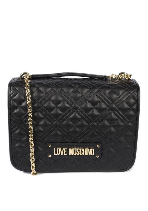Tracolla m quilted nero LOVE MOSCHINO | Borse a spalla | 4200PELLE-000