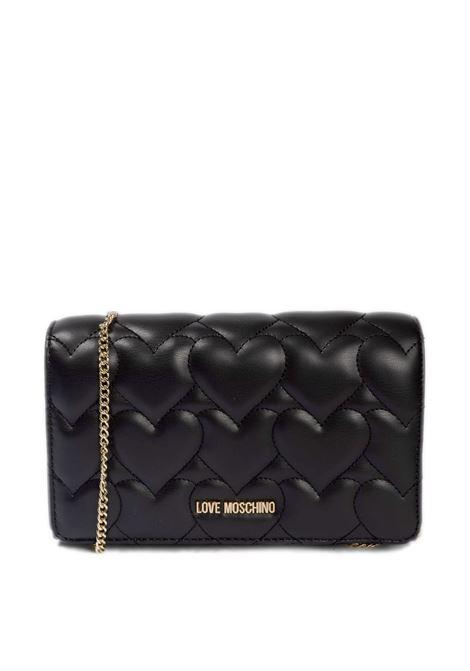 Pochette cuori nero LOVE MOSCHINO | Borse mini | 4257PELLE-000