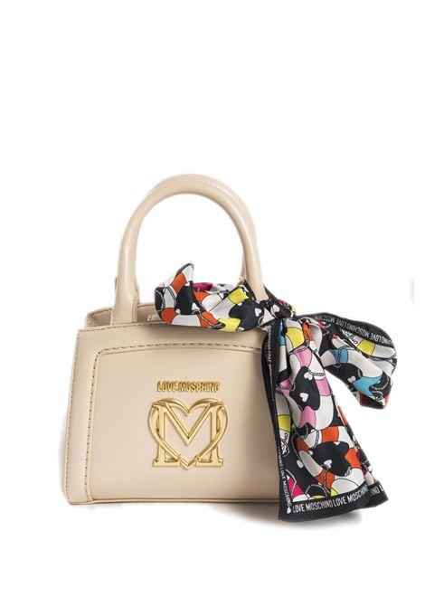 Borsa mini logo beige LOVE MOSCHINO | Borse mini | 4261PELLE-107