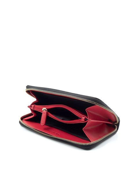 Portafoglio saffiano nero LOVE MOSCHINO | Portafogli | 5552PELLE-000