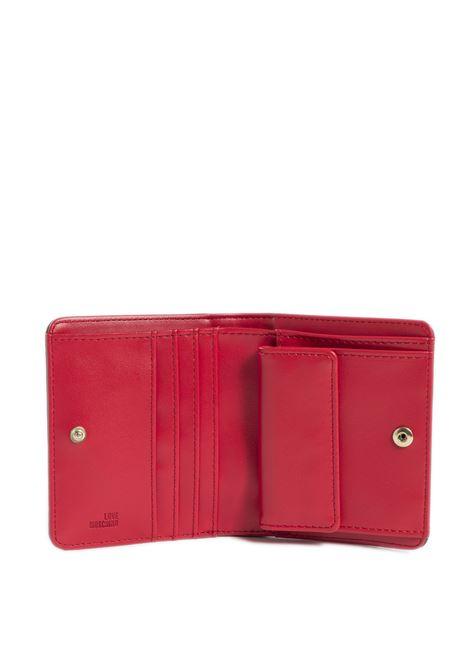 Portafoglio mini con logo nero LOVE MOSCHINO | Portafogli | 5562PELLE-000
