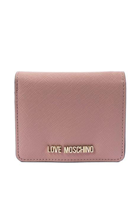 Portafoglio mini con logo cipria LOVE MOSCHINO | Portafogli | 5562PELLE-601