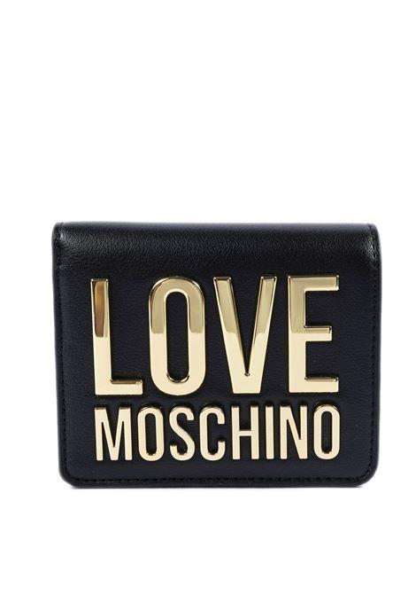 Portafoglio mini logo nero LOVE MOSCHINO | Portafogli | 5612PELLE-00A