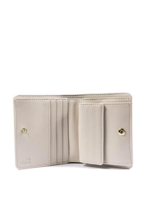 Portafoglio mini logo bianco LOVE MOSCHINO | Portafogli | 5612PELLE-10A