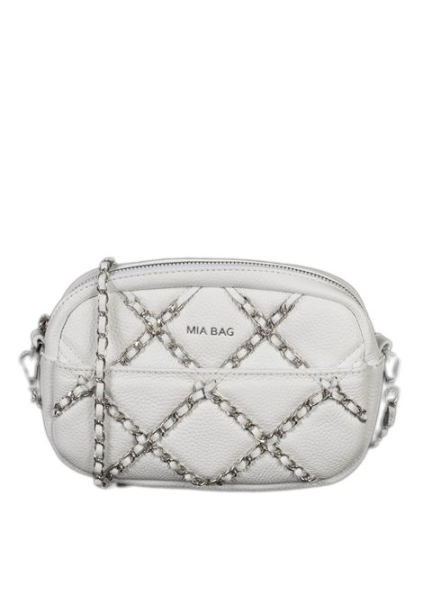 Tracolla zip chain bianco MIA BAG | Borse mini | 21102CHAIN-100