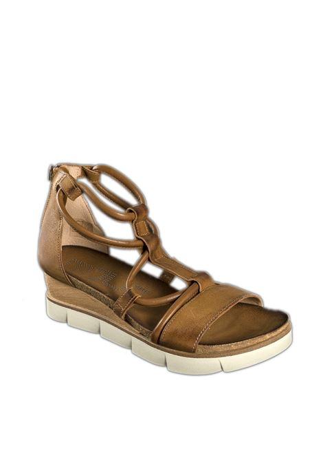 Sandalo zip senape MJUS | Sandali flats | 866059PELLE-MUSTARD
