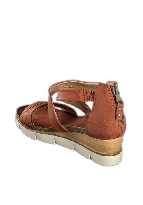 Sandalo incrocio cannella MJUS | Sandali flats | 866063PELLE-CANNELLA