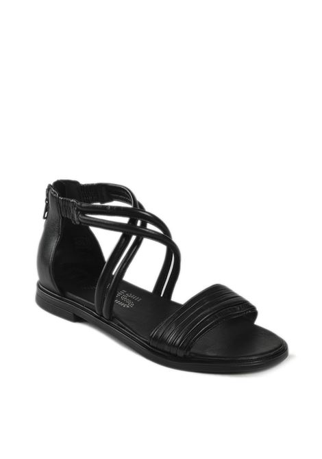 Sandalo flat incrocio nero MJUS | Sandali flats | M05062PELLE-NERO