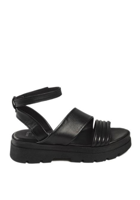Sandalo cinturino nero MJUS | Sandali flats | M87010PELLE-NERO