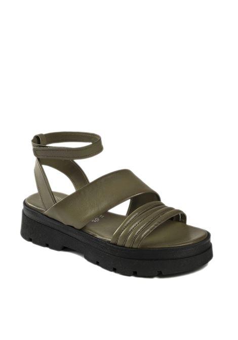 Sandalo cinturino verde MJUS | Sandali flats | M87010PELLE-UNIFORM