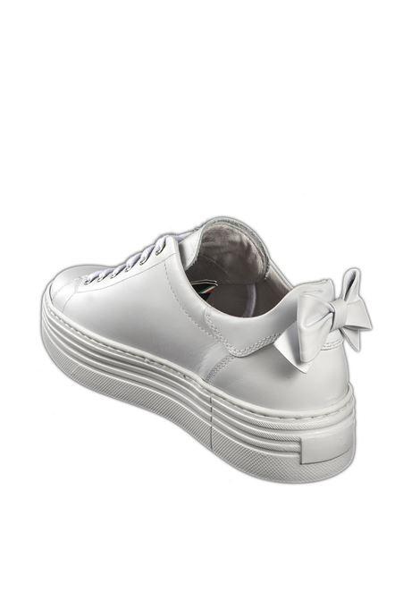 Sneaker fiocco bianco NERO GIARDINI | Sneakers | 010700SKIPPER-707