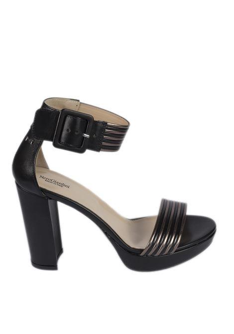 Sandalo leon metal nero NERO GIARDINI | Sandali | 012203LEON-100