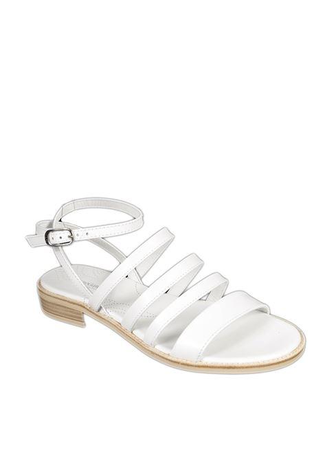 Sandalo flat tigri bianco NERO GIARDINI | Sandali flats | 012491TIGRI-707