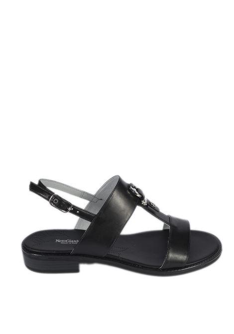 Sandalo flat tamigi bianco NERO GIARDINI | Sandali flats | 012492TAMIGI-100
