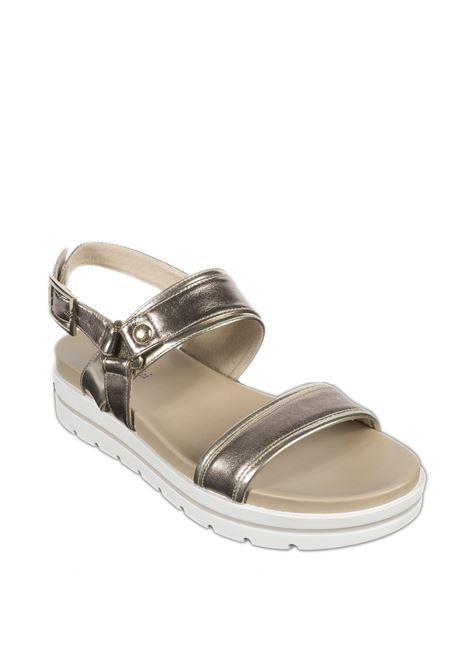 Sandalo platform oxigen bronzo NERO GIARDINI | Sandali flats | 012611OXIGEN-312