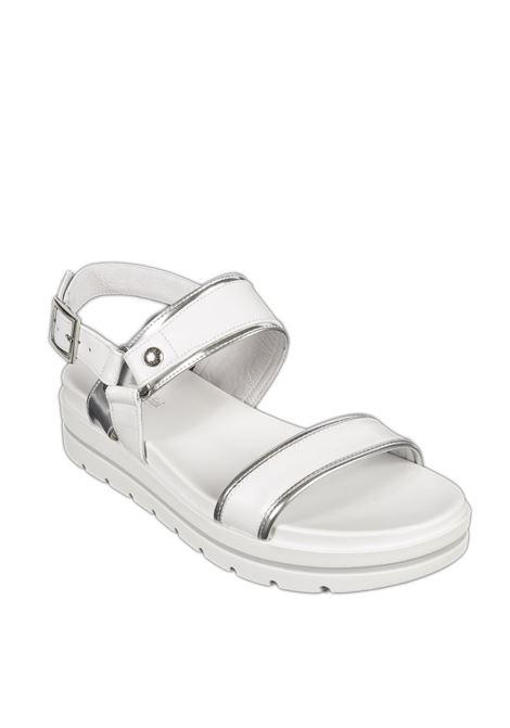 Sandalo platform tigri bianco NERO GIARDINI | Sandali flats | 012611TIGRI-707