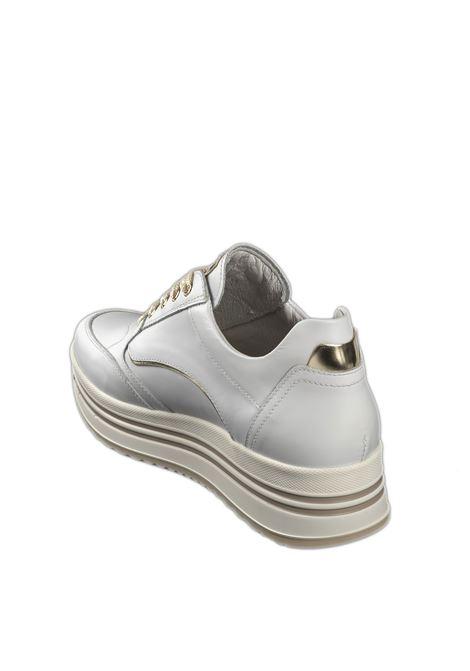 Sneaker platform skipper bianco NERO GIARDINI | Sneakers | 110560SKIPPER-707