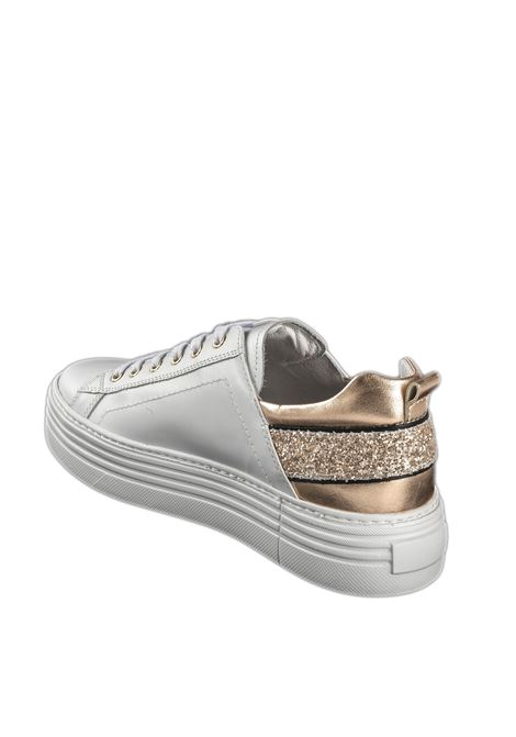 Sneaker skipper glitter bianco NERO GIARDINI | Sneakers | 115292SKIPPER-707