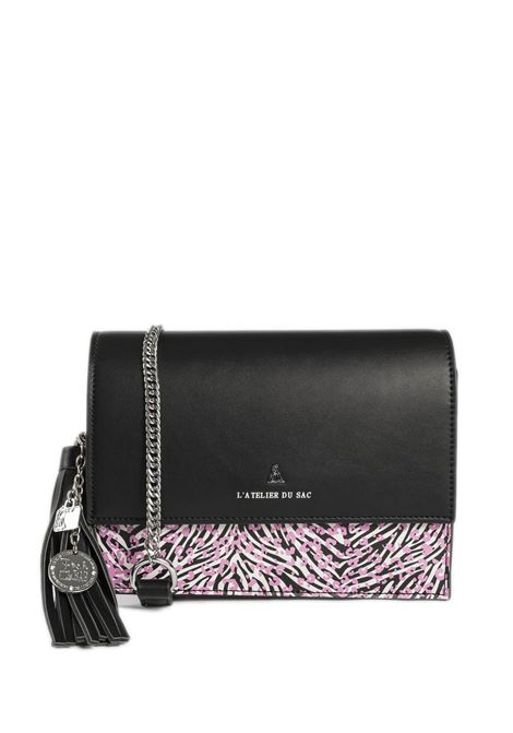Tracolla ariel nero/rosa PASH BAG   Borse mini   10771ARIEL-NERO/ROSA