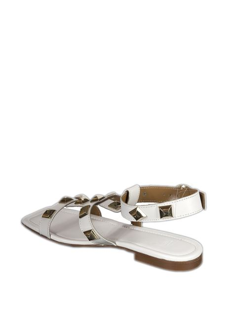 Sandalo borchie bianco PERNILL PARIS | Sandali flats | H51NAPPA-BANCO