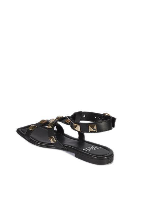 Sandalo borchie nero PERNILL PARIS | Sandali flats | H51NAPPA-NERO