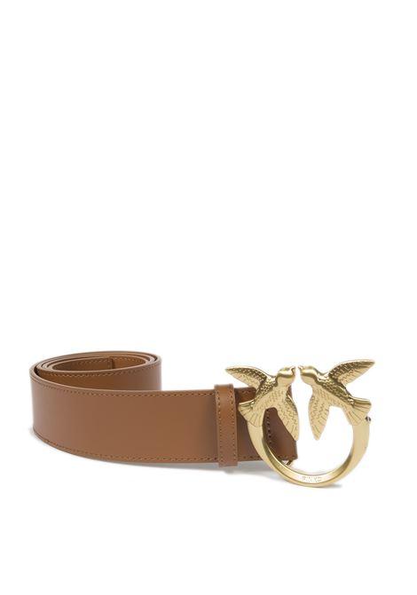 Cintura simply cuoio PINKO | Cinture | 1H20WJLOVE SIMPLY-L58