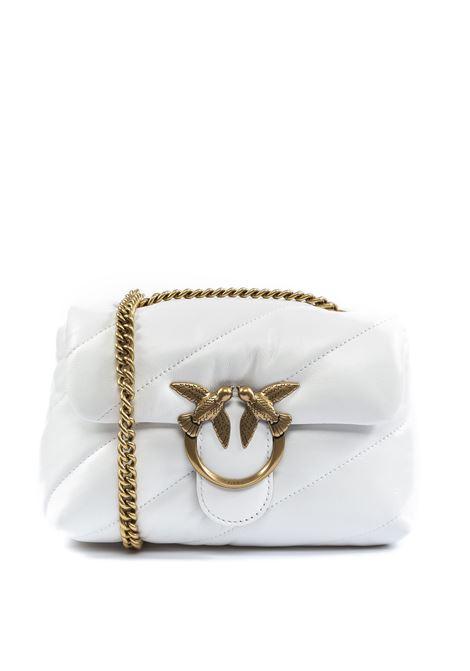 Tracolla mini puof quilt bianco PINKO | Borse mini | 227KMINI PUFF QUILT-Z14