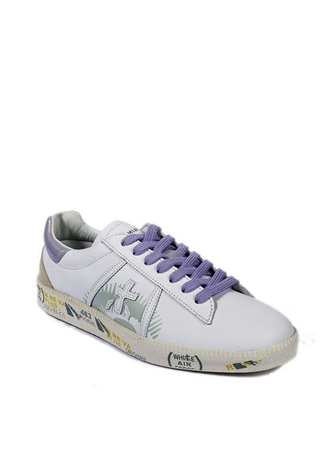Sneaker andy bianco/viola PREMIATA | Sneakers | ANDYPELLE-5139