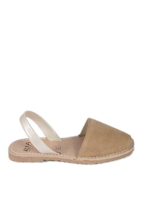 Sandalo flat velvet cuoio RIA MENORCA | Sandali flats | 20002-2ANTE-C/6482