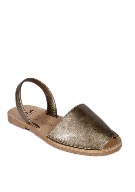 Sandalo flat spuntato pelle oro RIA MENORCA | Sandali flats | 20002METALGRAIN-ONIX