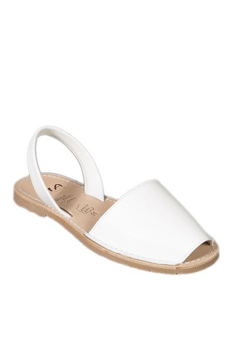 Sandalo flat spuntato pelle bianco RIA MENORCA | Sandali flats | 20002VELVET-BLANCO