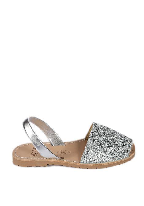 Sandalo flat glitter silver RIA MENORCA | Sandali flats | 21224GLITTER-C/41