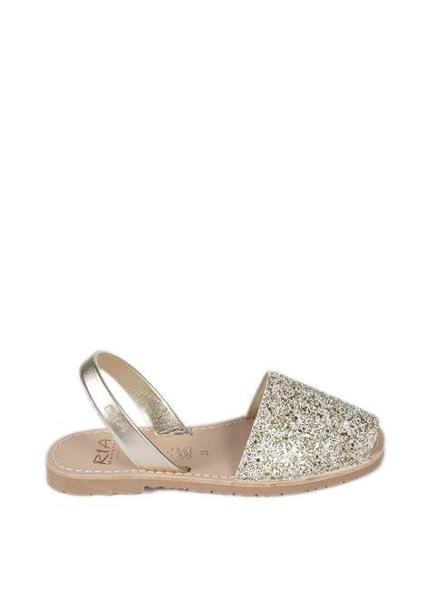 Sandalo flat glitter platino RIA MENORCA | Sandali flats | 21224GLITTER-C/42