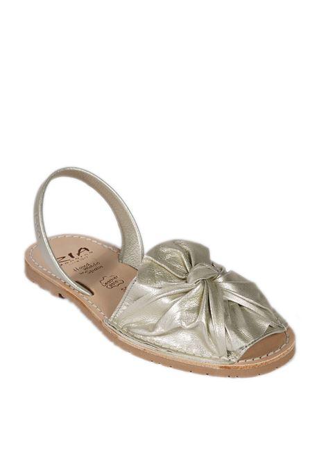 Sandalo flat bow paltino RIA MENORCA | Sandali flats | 27167METALGRAIN-PEARL