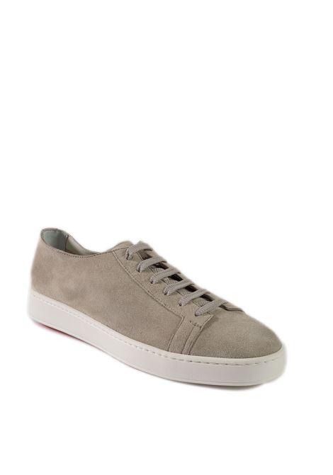 Sneaker camoscio grigio SANTONI | Sneakers | 14387CAM-GREY
